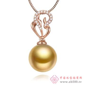 物语珍珠-南洋金珠珍珠吊坠10