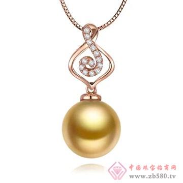 物语珍珠-南洋金珠珍珠吊坠02