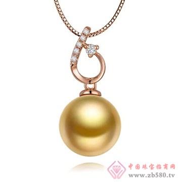物语珍珠-南洋金珠珍珠吊坠06