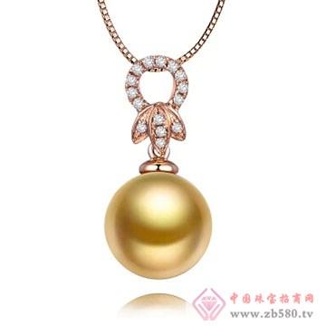 物语珍珠-南洋金珠珍珠吊坠05