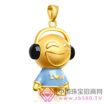 鹏城珠宝-卡通系列-黄金吊坠10