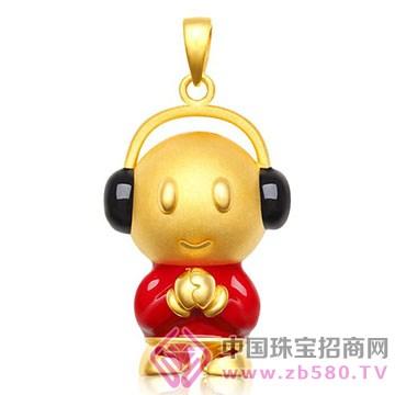 鹏城珠宝-卡通系列-黄金吊坠9