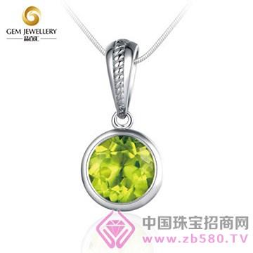 晶百汇橄榄绿宝石项链