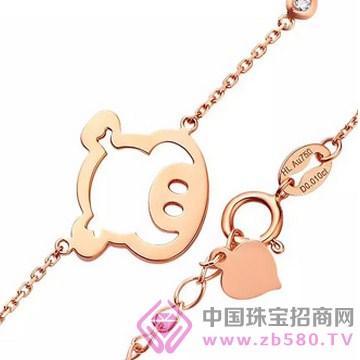梵希哲珠宝-生肖小猪素金手链