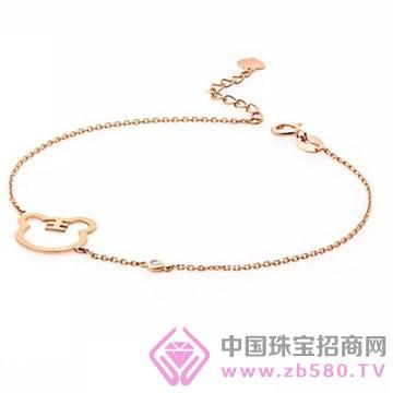 梵希哲珠宝-老虎 素金手链A002