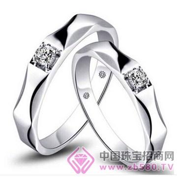 梵希哲珠宝-缘定-18K白钻石情侣对