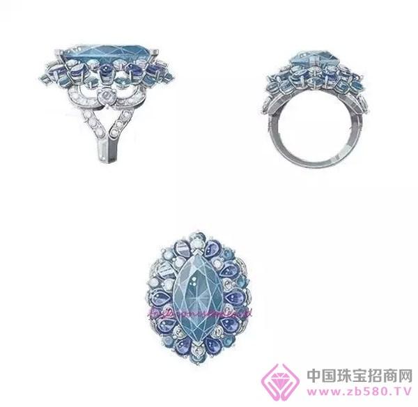难得一见的珠宝设计大师手绘三视图