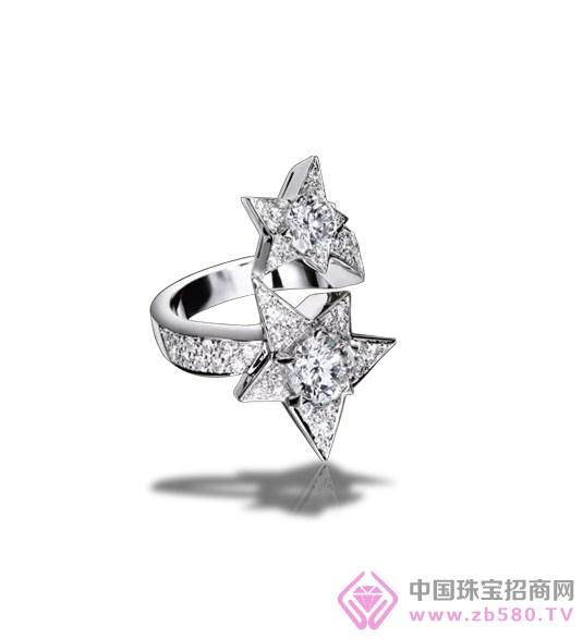 chanelultra戒指_chanelultra系列18k白金戒指,镶嵌黑色高科技精密陶瓷和钻石
