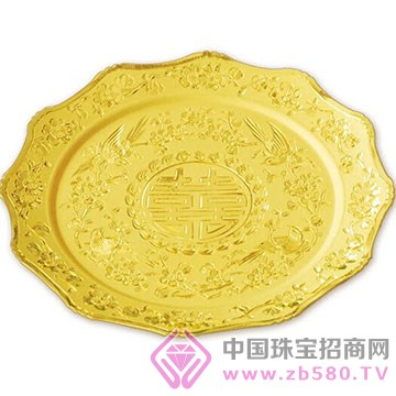 港行珠宝-黄金团圆盘