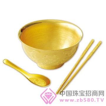 港行珠宝-黄金子孙碗筷