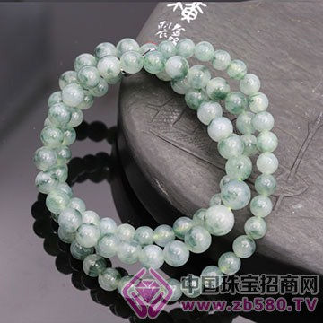 云峰翡翠-蓝花项链