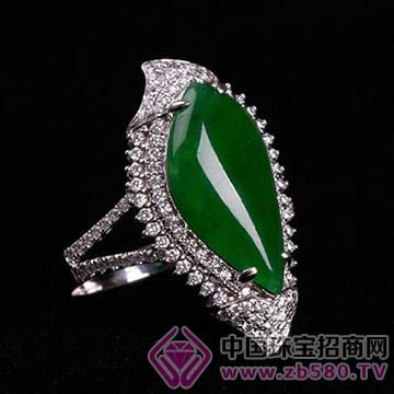 旭麟珠宝-老坑满绿事业有成围镶