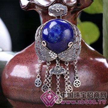 老银坊-宝石镶嵌吊坠4