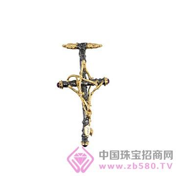 博妃儿-纯银电黑金吊坠-P00167