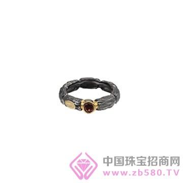 博妃儿-纯银电黑金戒指-R00199
