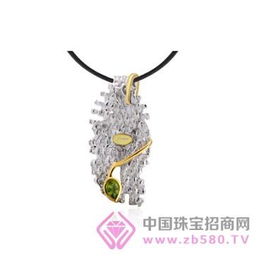 博妃尔-纯银电白金吊坠-P00147-3