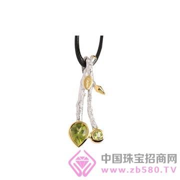 博妃尔-纯银电白金吊坠-YP0067
