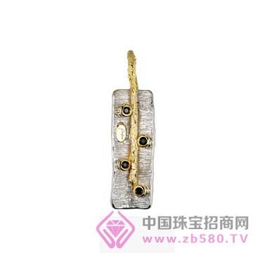 博妃尔-纯银电白金吊坠-YP0102