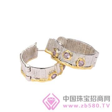 博妃尔-纯银电白金耳环-E00013