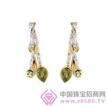 博妃尔-纯银电白金黄金耳环-YE0067