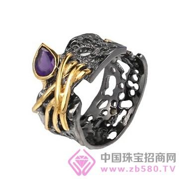 博妃尔-纯银电白金戒指-R00144-3