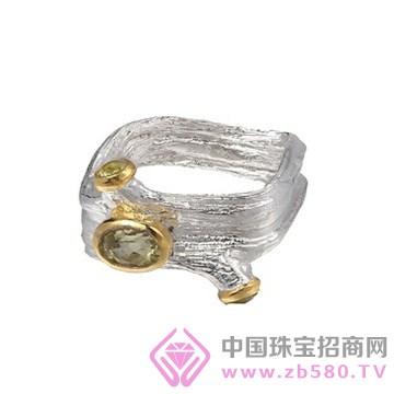 博妃尔-纯银电白金戒指R00145-3