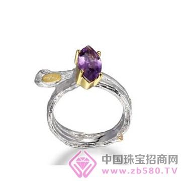 博妃尔-纯银电白金戒指-R00188
