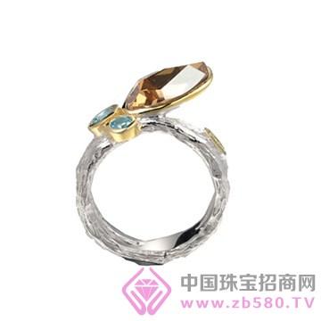 博妃尔-纯银电白金戒指-R00240