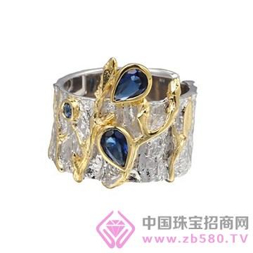 博妃尔-纯银电白金戒指-R00246