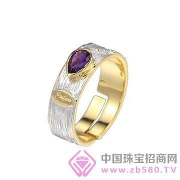 博妃尔-纯银电白金戒指-R00271