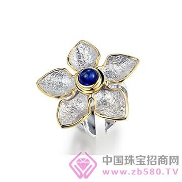博妃尔-纯银电白金戒指YR0065
