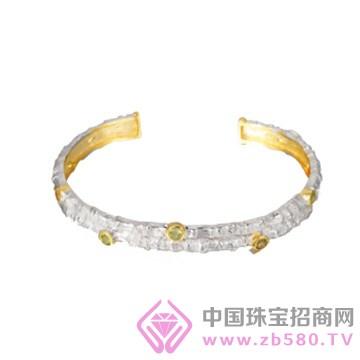 博妃尔-纯银电白金手镯-G00001