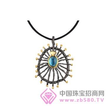 博妃尔-纯银电黑金吊坠-YP0064