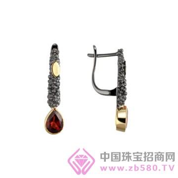 博妃尔-纯银电黑金耳环-E00014