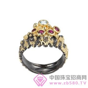 博妃尔-纯银电黑金戒指-R00235