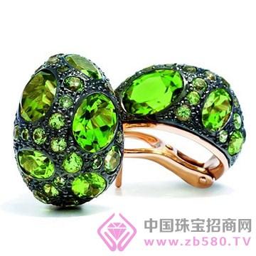 百色仟华-橄榄石耳环