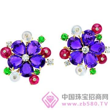 百色仟华-紫水晶耳环