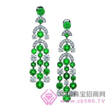 百色仟华-祖母绿耳环