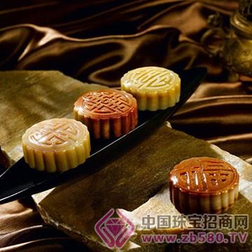 宇源珠-金沙玉收藏品【金玉月饼】