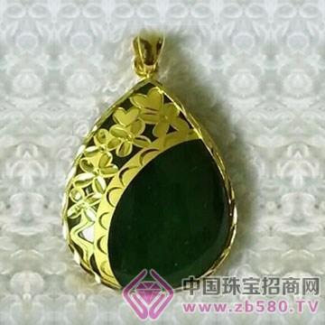 金凤缘珠宝-金镶玉吊坠01