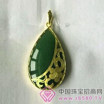 金凤缘珠宝-金镶玉吊坠03