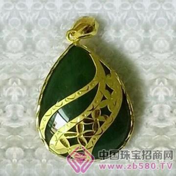 金凤缘珠宝-金镶玉吊坠04