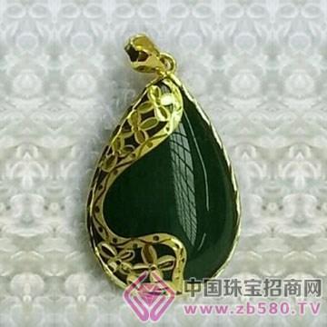 金凤缘珠宝-金镶玉吊坠05