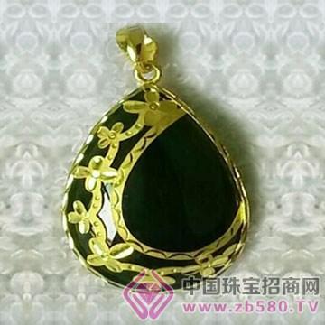 金凤缘珠宝-金镶玉吊坠11