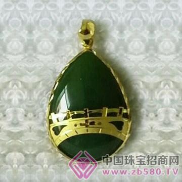金凤缘珠宝-金镶玉吊坠12