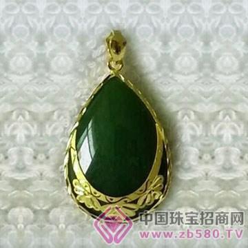 金凤缘珠宝-金镶玉吊坠14
