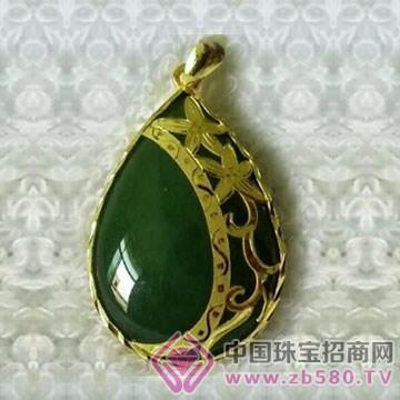 金凤缘珠宝-金镶玉吊坠15