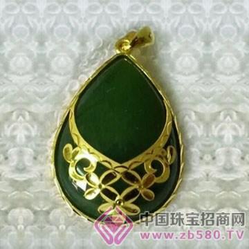 金凤缘珠宝-金镶玉吊坠16