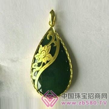 金凤缘珠宝-金镶玉吊坠17