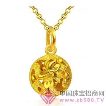 贵玲珑珠宝-黄金吊坠3